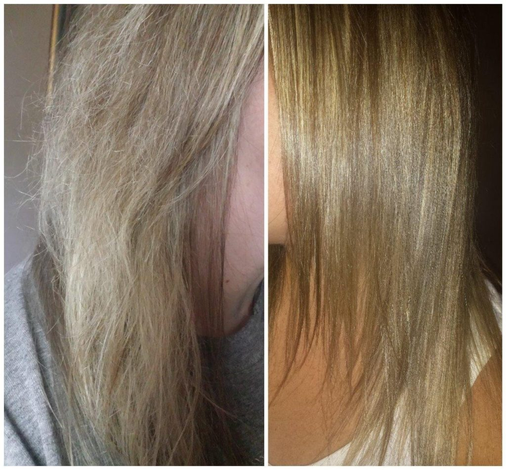 DIY Keratin Treatment Before and After