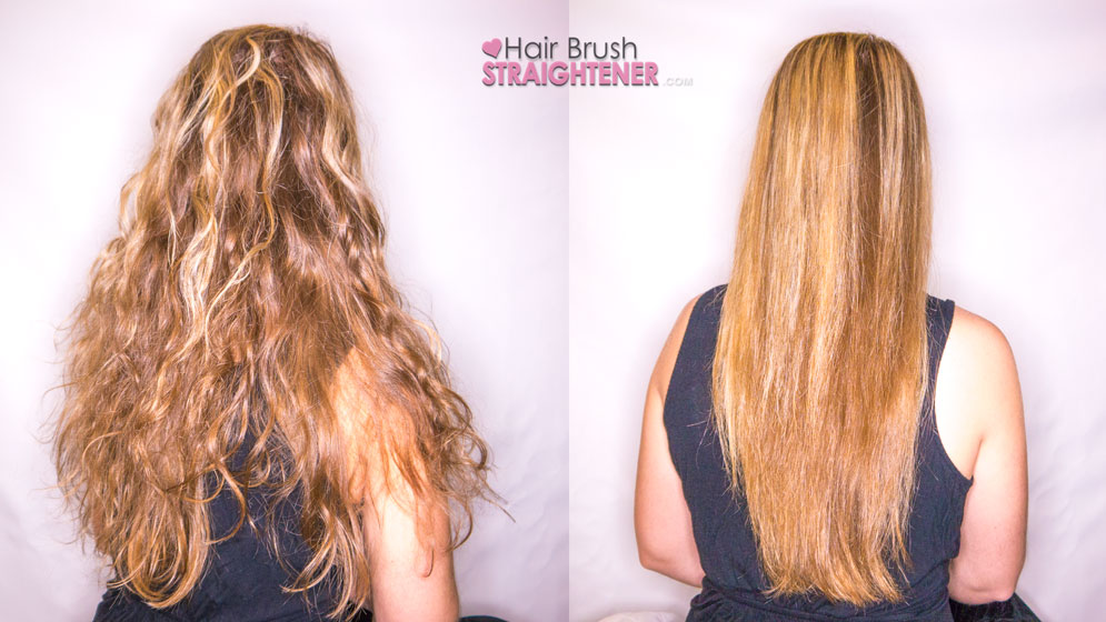 Dafni Hair Brush Straightener Before and After
