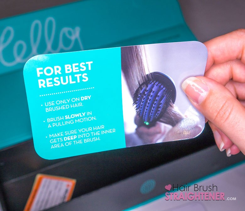 Dafni Hair Brush Straightener For Best Results Card