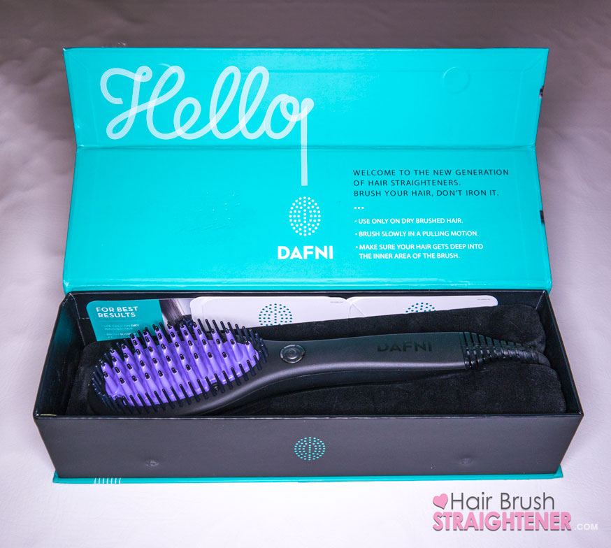 Dafni Hair Brush Straightener Open Box