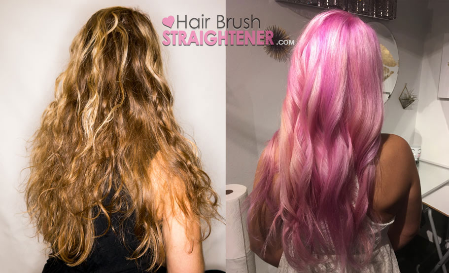 Before and After Pink Hair Olaplex At Home Kit