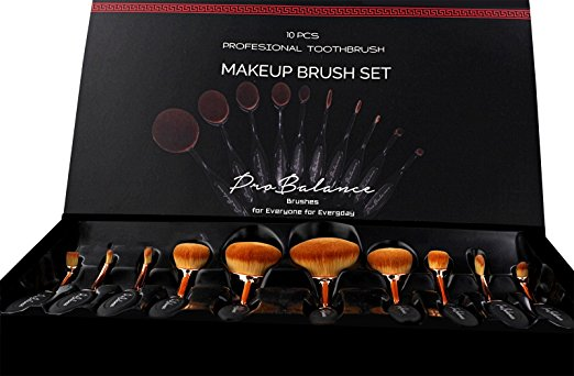 ProBalance Makeup Brushes - Best Oval Makeup Brush Set