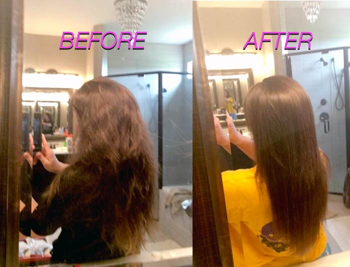 Keratin Treatment At Home - Before and After