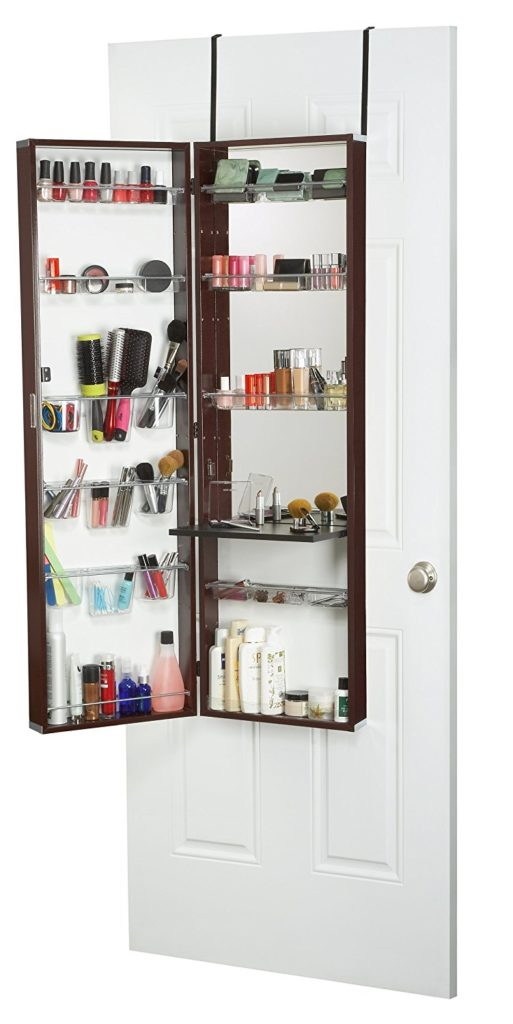 Mirrotek Over The Door Beauty Armoire and Makeup Organizer - Best Makeup Organizers