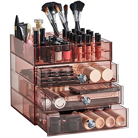 Pink Acrylic Cosmetic Makeup Organizer Stand by Beautify - Best Makeup Organizer