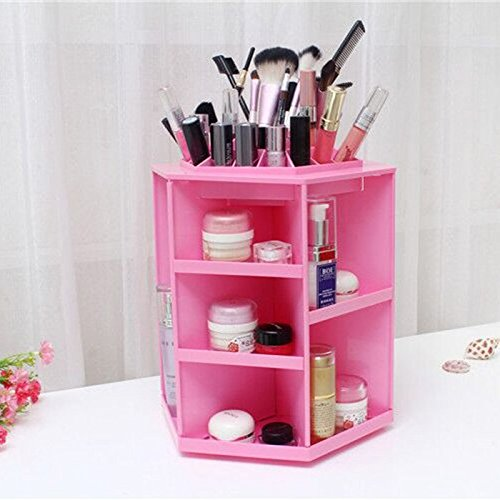 Rotating Acrylic Makeup Organizer by ECVISION - Best Makeup Organizer
