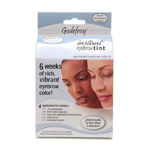 Godefroy Instant Eyebrow Tint Permanent Eyebrow Color Kit - Best Eyebrow Tinting Kit
