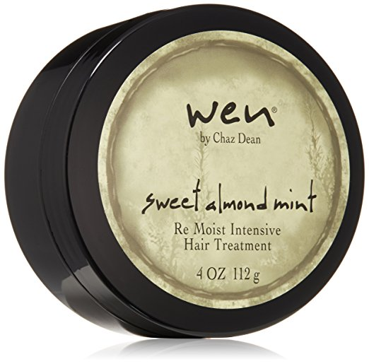 WEN by Chaz Dean Sweet Almond Mint Re Moist Hair Treatment - Best Hair Treatment For Damaged Hair