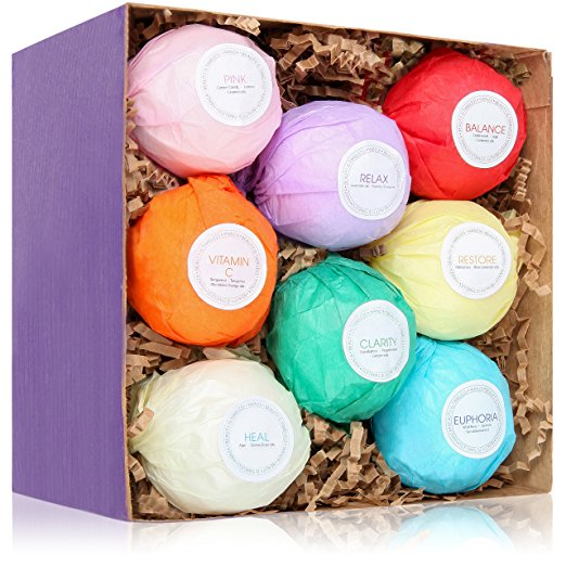8 USA Made Vegan Bath Bombs Kit by Hanza