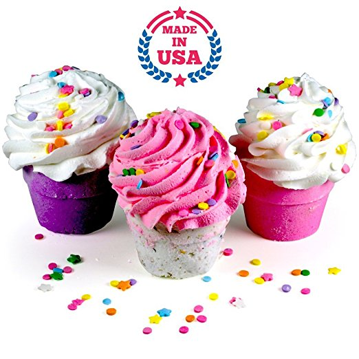 3 XL Cupcakes By Plush Bath Bombs