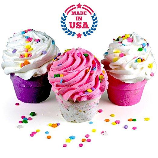 3 XL Cupcakes By Plush Bath Bombs