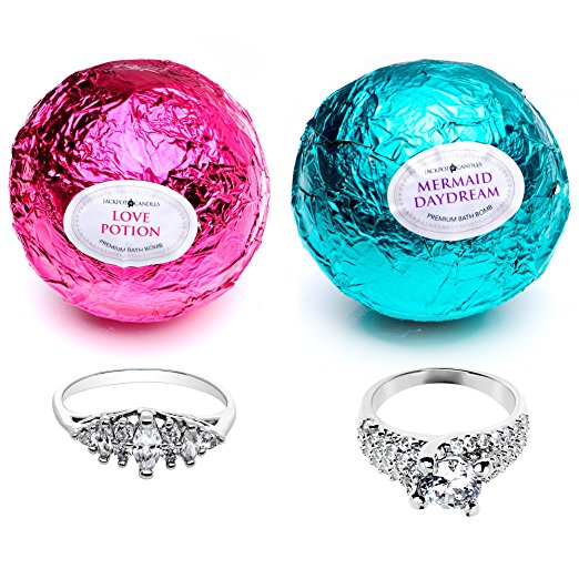 Mermaid Love Potion Bath Bombs Set with Ring Inside by Jackpot Candles