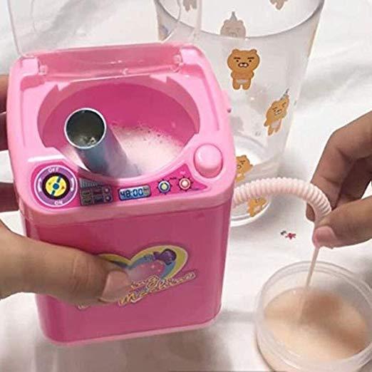 mini beauty blender washing machine with brushes