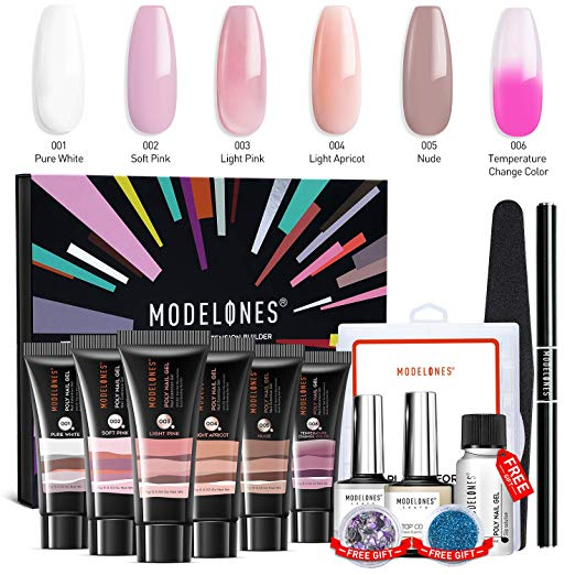 Modelones Poly Nail Gel Kit Enhancement Builder