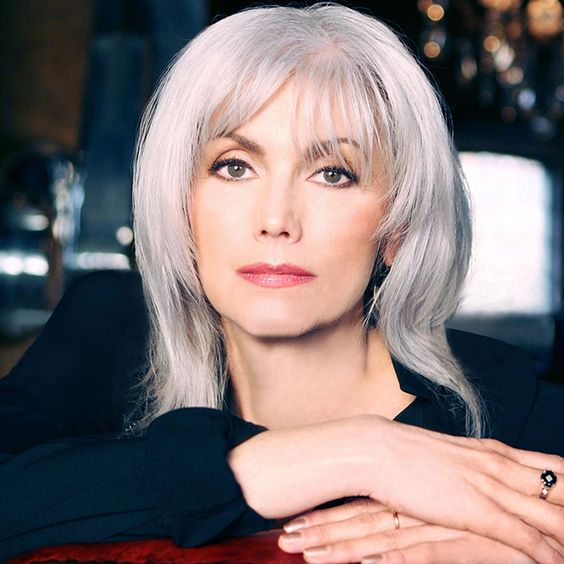 Emmylou Harris With Chic Silver Hair